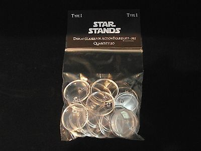 STAR WARS ACTION FIGURE DISPLAY STAND FOR VINTAGE FIGURES CLEAR X 100 T1c