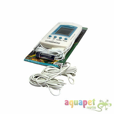 LCD Digital Thermometer / Hygrometer (Humidity) with 3 probes for Reptiles