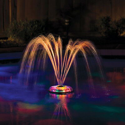 NEW Small Underwater Floating Light & Fountain Pools Decor Spin Auto Shut Off