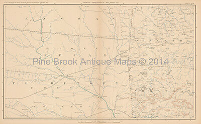 Missouri Arkansas Civil War Antique Map 1895 Original