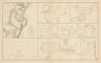 New Madrid Manassas Civil War Antique Map 1895 circa Original