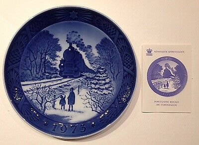 "Royal Copenhagen Piatti Di Natale ""Going Home For Christmas"" 1973con Certificato"