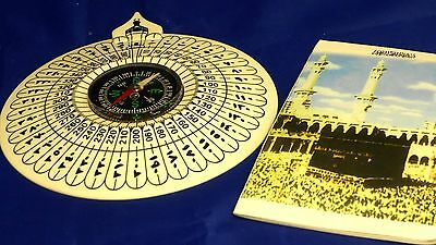 Islamic Muslim compass with direction book of Kaaba # 602