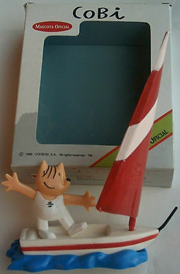 Orig.mascot   Olympic Games BARCELONA 1992 - SURFING COBI / in pack !! VERY RARE