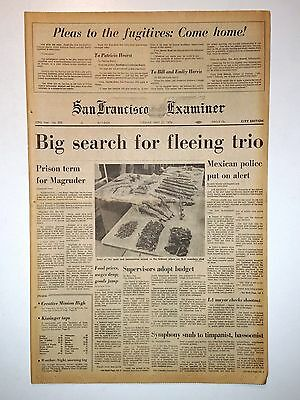PATRICIA HEARST - Big Search for Fleeing SLA Trio  5/21/1974 Prison for Magruder
