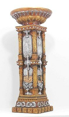 Vintage Wood and Resin Column Pedestal Post Plant Statue Stand # 1250