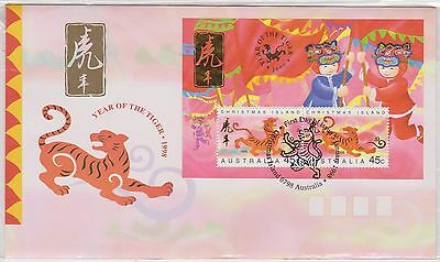 (ICD193) 1998 Christmas Island M/S year of the tiger (B)