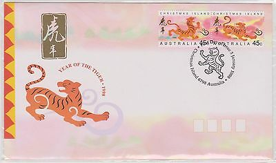 (ICD194) 1998 Christmas Island 45c pair year of the tiger (C)