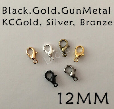20x Gold Silver Gunmetal Bronze Plated Finding Lobster Claw Clasp Parrot Hooks