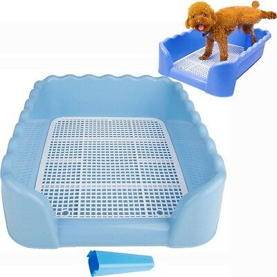 S M L Size Indoor Dog Puppy Plastic Potty Training Fence Tray Pad Pet Pee Toilet