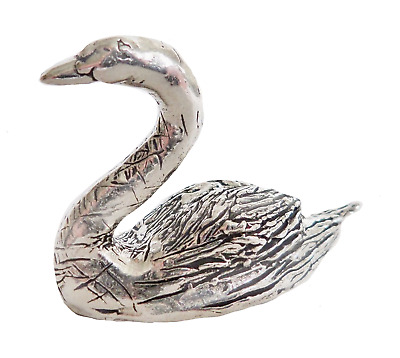 Swan Pewter Ornament - Hand Made in Cornwall - SF47