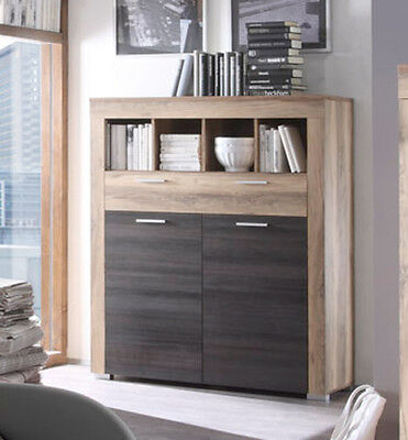 kommode highboard b cherregal boom nussbaum satin und. Black Bedroom Furniture Sets. Home Design Ideas
