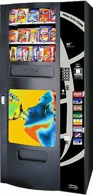 Vending Machine Seaga VS-3800 Cold Drink & Snack Combo w/Coin Changer & BV