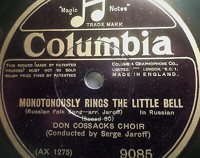 """DON COSSACKS CHOIR & SERGE JAROFF """"Monotonously Rings The Little Bell"""" Columbia"""