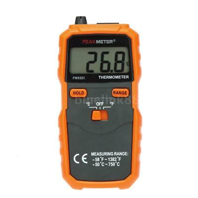 PEAKMETER PM6501 K Type LCD Digital Thermometer -50~750℃/-58~1382℉ Data Hold