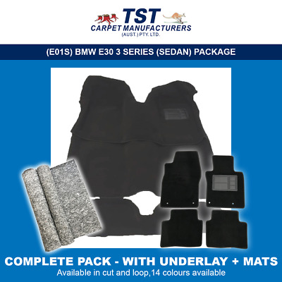 Moulded Car Carpets (E01) Bmw E30 3 Series (Sedan & Coupe) Package