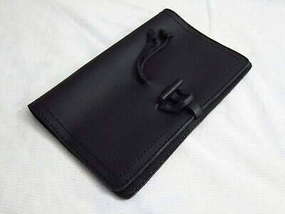 NEW! Genuine Saddleback Leather BIBLE COVER WITH CLOSURE Size Medium in Black