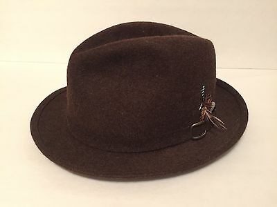 Vintage all wool fedora Poretti sold by John Grey and Son's London Rare