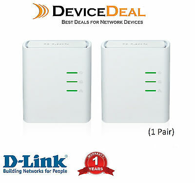 D-LINK DHP-309AV  Mini Powerline AV500 Mini Network Starter Kit (1 Pair)