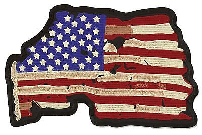 Patche dorsal dos écusson grande taille US flag patch brodé