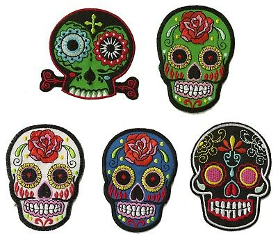 écusson brodé patche Mexican Tattoo skull ecussons patches au choix patch DIY