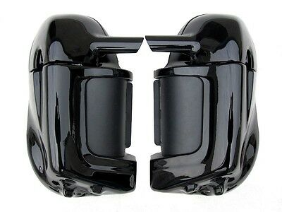 Vivid Black Lower Vented Fairing For Harley HD Road King Street Glide Touring