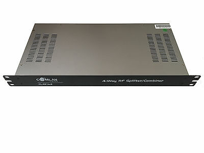 4-Way F-Type RF Splitter / Combiner - Rack Mount (HF, VHF, UHF)