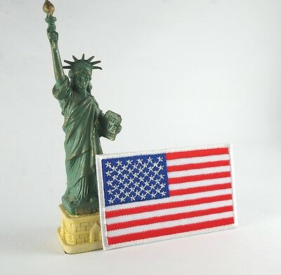 Mini Us American National Flag Military Iron/sew On Patch Embroidered Applique