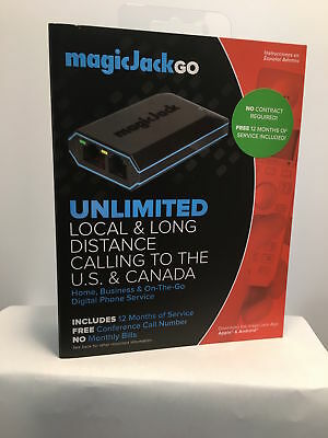 Magic Jack Go (Latest Model) 12 Months FREE Service Included FREE 3 Day Shipping