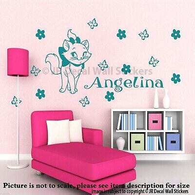Disney Marie the Cat personalized Name wall Stickers vinyl decal Mura Aristocats