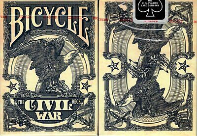 Civil War Blue Deck Bicycle Playing Cards Poker Size USPCC Jackson Robinson KWP