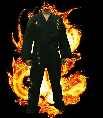Martial Art Kung Fu JKD Jeet Kune Do Uniform Suit (Top, Pants & Belt) XXS-XXXL