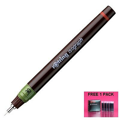 Rotring Isograph Technical Pen 0.30 mm. Free 1 Pack Black Ink Cartridge