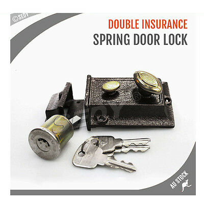 Double Insurance Spring Door Lock Traditional Vintage Double Spin Secured Lock