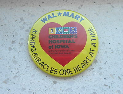 Cool Vintage Wal-Mart & Children's Hospital of Iowa Making Miracles Pinback