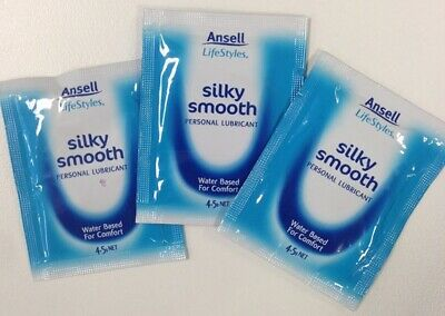 ANSELL SILKY SMOOTH PERSONAL SEX Lube Lubricant 6 SACHETS Toys Safe
