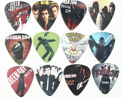 10pcs 0.71mm Musical Accessories Green day Rock  Band Guitar Picks Plectrums