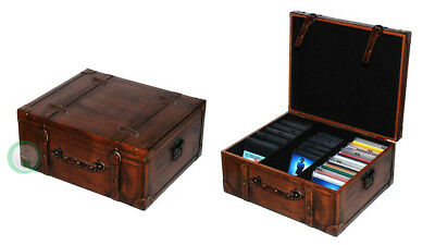 New Vintiquewise Vintage Style Leather Suitcase - CD Case, QI003049