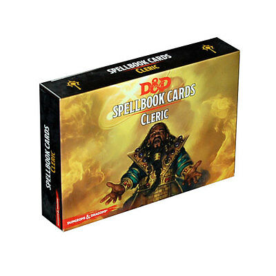 D&D Dungeons & Dragons 5 edizione Spellbook Cards CLERIC gioco di ruolo inglese
