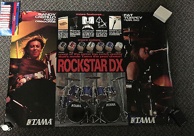 Vintage Ozzie Osbourne Randy Castillo Tama Drums Poster Mr Big