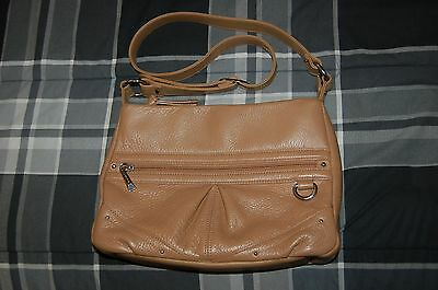 STONE & CO. Super Soft Brown Leather Hobo w/ Adjustable Strap EUC!