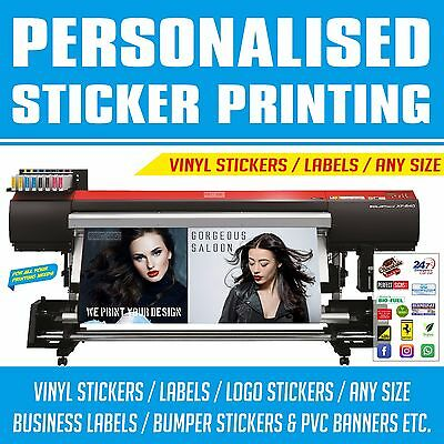 Custom Sticker Printing Vinyl Cut Any Shape Your Business Labels Design Cut