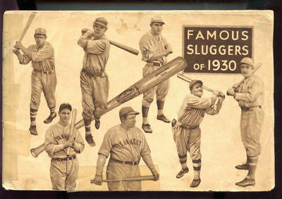 1930 Famous Sluggers Baseball YearBook Magazine Louisville Bat Babe Ruth