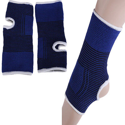 2 X Elastic Ankle Brace Support Band Sports Gym Foot Protective Therapy Compress