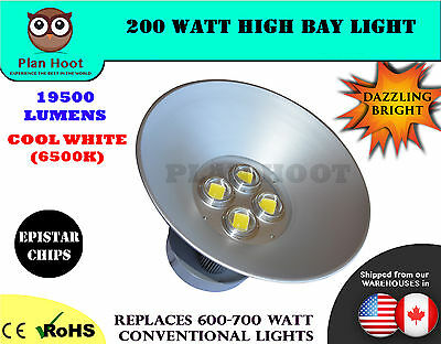 LED 200W High Bay Light for Warehouse, Industrial, Factory, Commercial Usage