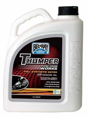 Belray Works Thumper Racing Synthetic Ester 4T Engine Oil 10W50 4 Litre