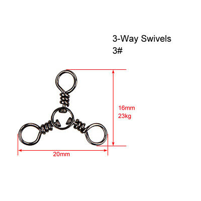 60 X CrossLine (3 Way) Fishing Swivel in Size 3#,Fishing Tackle  Special Offer