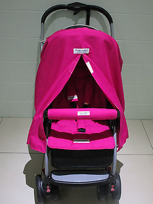 FUNKY BABYZ-Hot Pink privacy curtain,Hot Pink pram liner,belt covers set.