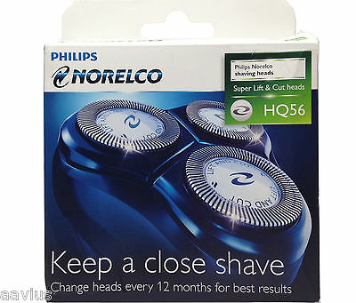 Genuine Philips Norelco HQ56 Replacement Heads Razor Blades Refiles for Shaver