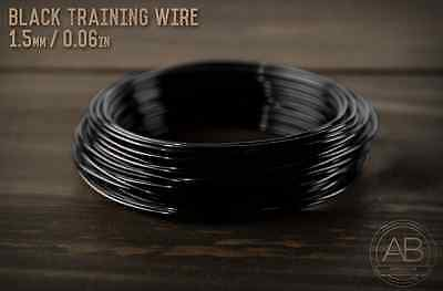 American Bonsai Black Aluminum Training Wire - 1.5mm - 100 grams - 65ft - 100g